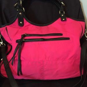 Black and hot pink bag